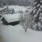 Unser Garten versinkt im Schnee