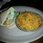Chicken pitta and spicy rice