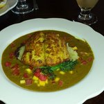 Curried King fish