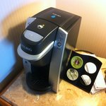 Keurig machine a nice touch!
