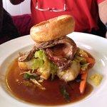 Roast beef lunch