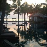 early morning sun, view from pool villa 512