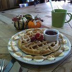 Peanut butter Waffle!