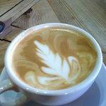 Latte with an Autumn design