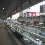 dari arah stasiun monorail