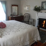 The Rose Room also has a King bed and fireplace