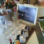 Bloody Mary breakfast station