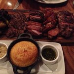 The main. Meat platter for 2. Cost usd75