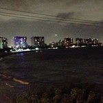 isla verde beach by night