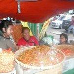 Fun shopping at an exotic market