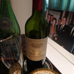 Our wine (The Reagans and Nixon in the background) :)