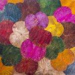 Peinture sur feuilles de lotus