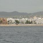 hotel vista geral do mar