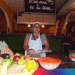 Mamacita! She makes tortillas as needed.