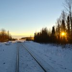 Train tracks at Fireweed Station