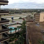 view from the room, looking to the pool, I-4