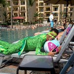 Fernando dressed as iguana