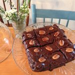 Fudgey espresso Brownies... you really want to make it on a day these are available!