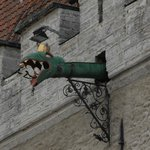 Medieval waterspout on town hall