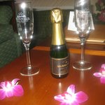 Champagne in room