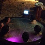 Watching Hot Tub Time Machine…in the hot tub :)