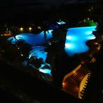 The Hilton Barbados Pool at night