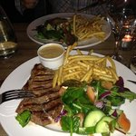 lovely steak and pepper sauce