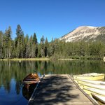 View of Mammoth Mountain from Wildyrie Boat Dock