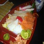 Sashimi boat at the Asian
