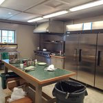 commercial kitchen for food prep