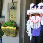 The doorman on Chinese New year