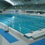 Piscina no complexo aquático olímpico.