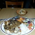 Pasha mixed grill with rice and bread