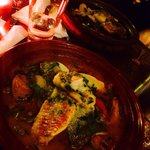 Beautiful dish both presentation and taste! Chef's fish special served in a tagine pot (lids wer
