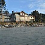 Long Beach Lodge from the beach