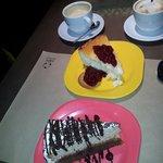 Tarta de queso y tarta de chocolates