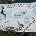 Information board at refuge