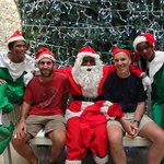 Santa and his friends. You gotta love them.