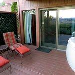 the patio in the Sedona Serenade room