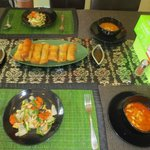 Our final product of the spring roll course