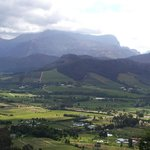 view on the way to Franschoek