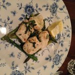 halibut with grilled asparagus