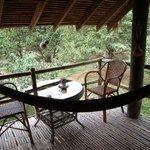 my verander-with my own hammock!