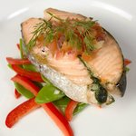 Atlantic Salmon served in the Bistro