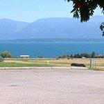 view across the Flathead lake from the KOA