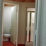 toilet has separate room
