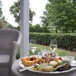 Platter on the patio