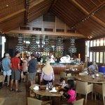 Inside view of the Pantai - breakfast buffet
