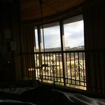 View in the morning from the bed