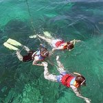 Snorkeling is one of the exciting marine activities at Tanjung Benoa Bali